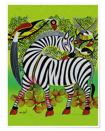 Poster  Clean Zebra in - Noel