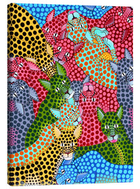 Tableau sur toile  Colorful Cheetah meeting - Omary
