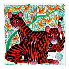 Poster  Resting big cats - Omary