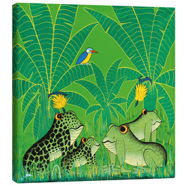 Tableau sur toile  Frogs in the swamp - Issa