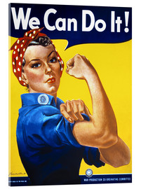 Tableau en verre acrylique  We Can Do It - Advertising Collection