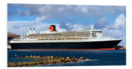 Tableau en PVC  Queen Mary 2 au port de La Palma - MonarchC