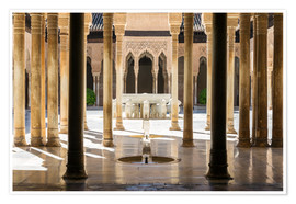 Poster  Court of the Lions, Alhambra palace, Granada, Spain - Matteo Colombo