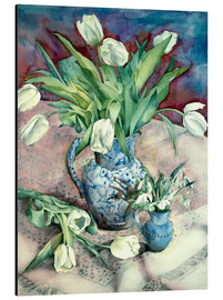 Tableau en aluminium  Tulips and Snowdrops - Julia Rowntree