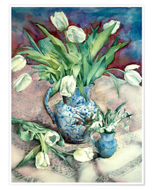 Poster  Tulips and Snowdrops - Julia Rowntree