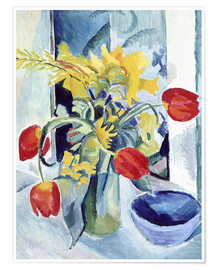 Poster  Nature morte aux tulipes - August Macke