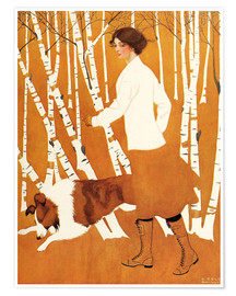 Poster  Bouleaux - Clarence Coles Phillips