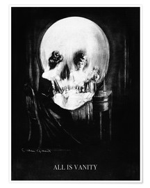 Poster  All is Vanity - Charles Allan Gilbert