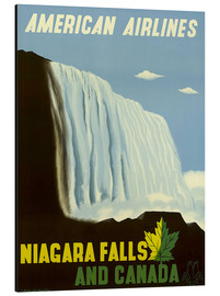 Tableau en aluminium  American Airlines Niagara Falls and Canada - Travel Collection