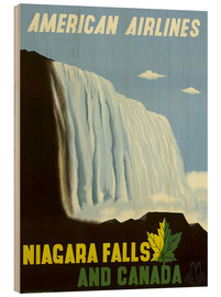 Tableau en bois  American Airlines Niagara Falls and Canada - Travel Collection