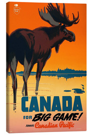 Tableau sur toile  Canada for big game - Travel Collection
