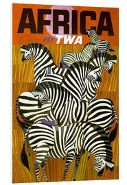 Tableau en PVC  Africa Fly TWA - Travel Collection