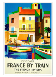 Poster France by Train