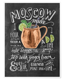 Poster  Recette du Moscow mule (anglais) - Lily & Val