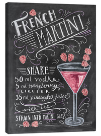 Tableau sur toile  Recette du French Martini Raspberry (anglais) - Lily & Val