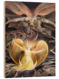 Tableau en bois  Le grand Dragon Rouge et la Femme vêtue de soleil - William Blake
