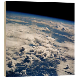 Tableau en bois  Thunderstorms, space shuttle image - NASA