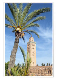 Poster  Minaret of the Koutoubia Mosque, UNESCO World Heritage Site, Marrakech, Morocco, North Africa, Afric - Nico Tondini