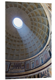Tableau en PVC  A shaft of light through the dome of the Pantheon, UNESCO World Heritage Site, Rome, Lazio, Italy, E - Martin Child