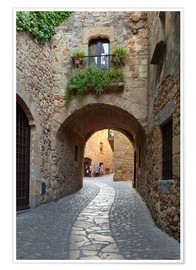 Poster Alley in Pals, Catalonia