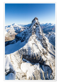 Poster  The unique shape of the Matterhorn - Roberto Sysa Moiola