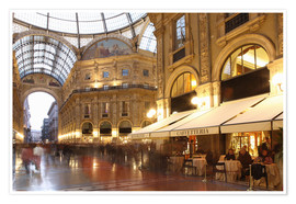 Poster Restaurant, Galleria Vittorio Emanuele, Milan, Lombardy, Italy, Europe