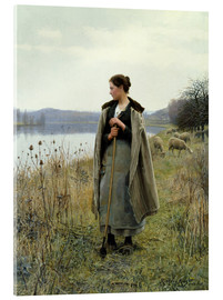 Tableau en verre acrylique  The Shepherdess of Rolleboise - Daniel Ridgway Knight