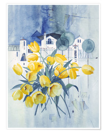 Poster  View with tulips - Franz Heigl