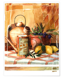 Poster Huile d'olive