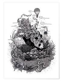 Poster  Land of the Sleeping Giant (Ink) - Mat Miller