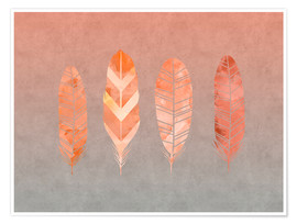 Poster  Plumes - Andrea Haase
