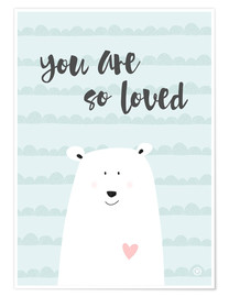 Poster  You are so loved, menthe - m.belle