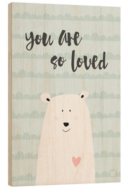 Tableau en bois  You are so loved, menthe - m.belle