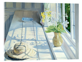 Tableau en verre acrylique  Still life in front of the window - Timothy Easton