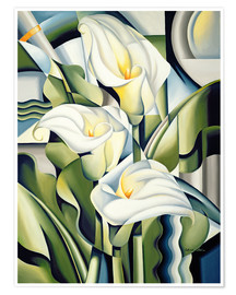 Poster  Lys cubiques - Catherine Abel