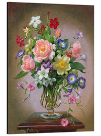 Tableau en aluminium  Roses, Peonies and Freesias - Albert Williams