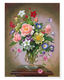 Poster  Roses, Peonies and Freesias - Albert Williams