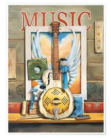 Poster  Musique (anglais) - Georg Huber