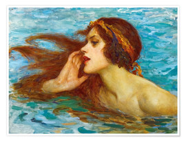 Poster  Petite sirène - William Henry Margetson