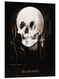 Tableau en PVC  All is vanity (sépia) - Charles Allan Gilbert