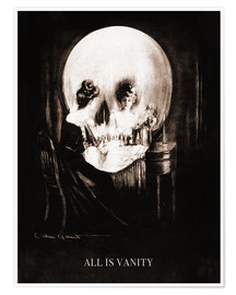 Poster  All is vanity (sépia) - Charles Allan Gilbert