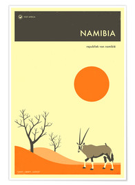 Poster  Namibie - Jazzberry Blue