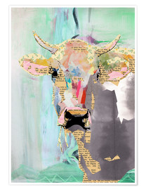 Poster  Collage vache - GreenNest