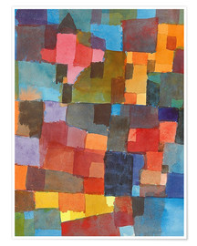 Poster  Espace architecturale - Paul Klee