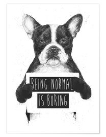 Poster Being normal is boring