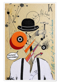 Poster  Orange mécanique - Loui Jover