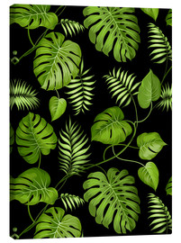 Tableau sur toile  Monstera with palms