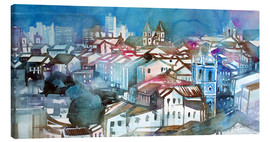 Tableau sur toile  Brazil, Salvador Bahia, views of Igreja e Convento do Carmo - Johann Pickl