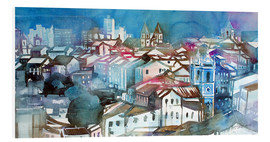 Tableau en PVC  Brazil, Salvador Bahia, views of Igreja e Convento do Carmo - Johann Pickl