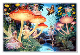 Poster  23979 Toadstool Brook Hidden Object - Steve Read